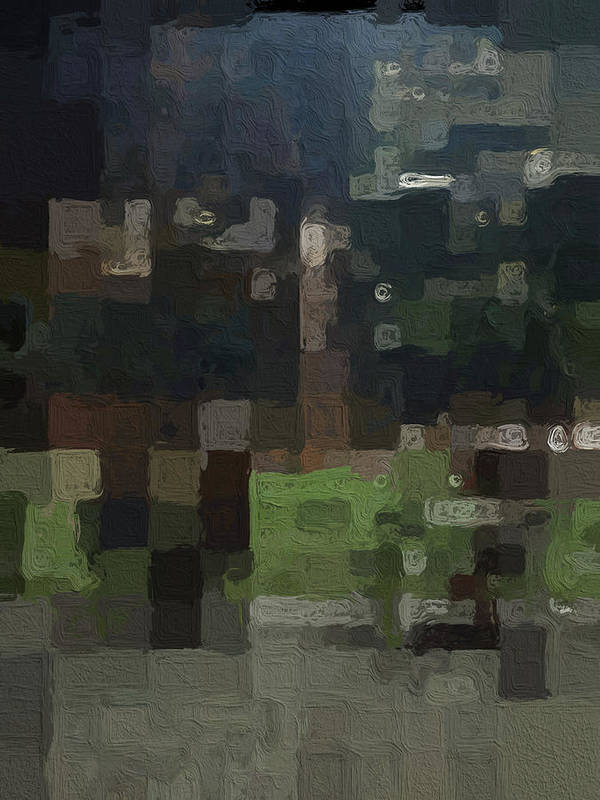 Abstract Painting Poster featuring the painting Bryant Park by Linda Woods