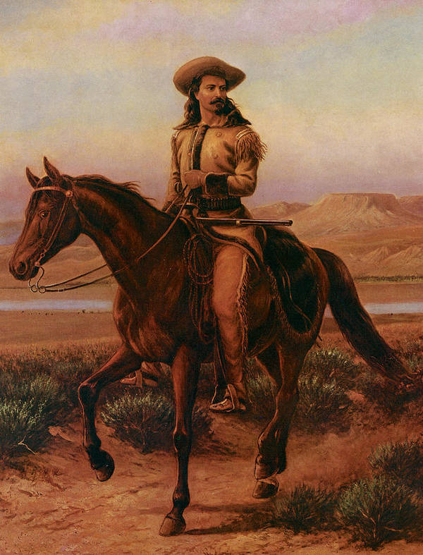 William Cary Poster featuring the painting Buffalo Bill On Charlie by William Cary
