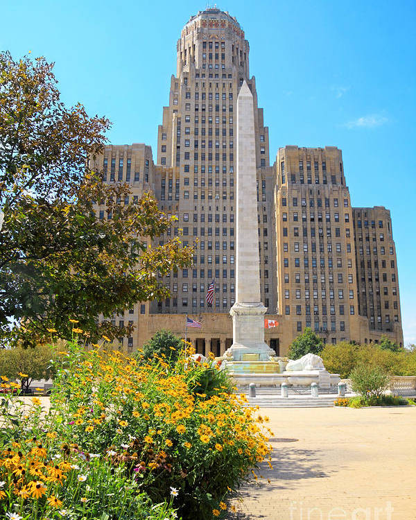 Buffalo Poster featuring the photograph Buffalo City Hall by Charline Xia