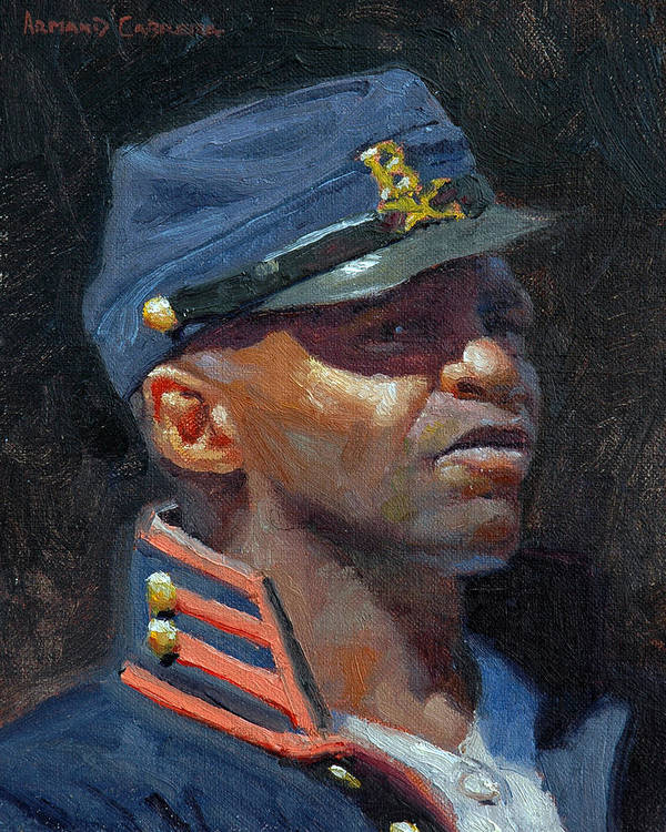 Blacks Poster featuring the painting Buffalo Soldier by Armand Cabrera