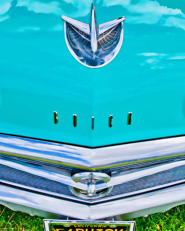 Blue Buick Poster featuring the photograph Buick Grill by Phil 'motography' Clark
