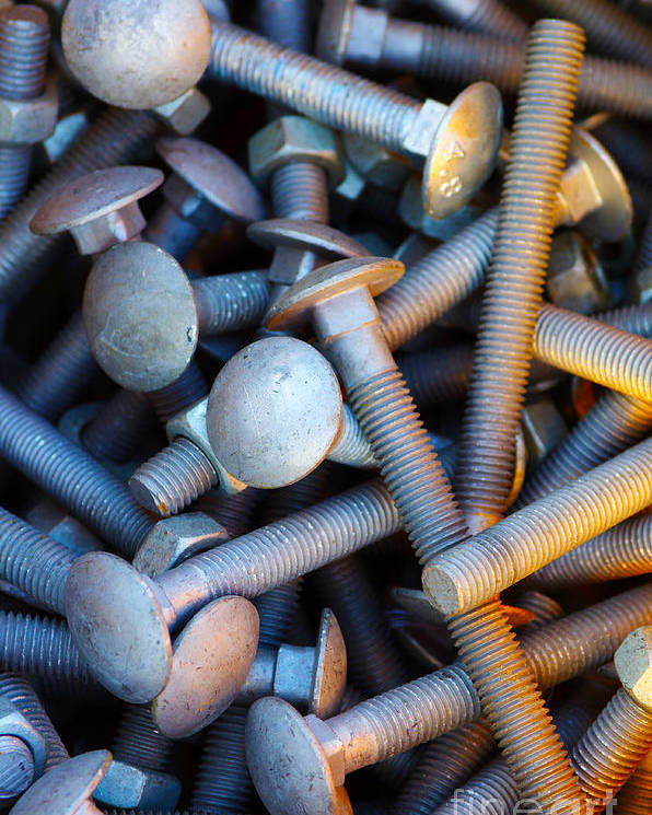 Aluminium Poster featuring the photograph Bunch Of Screws by Carlos Caetano