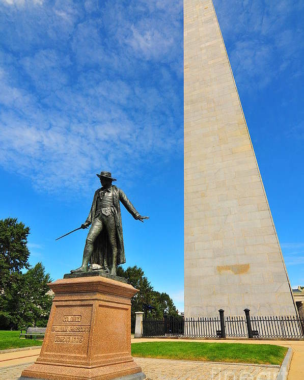 Bunker Hill Monument Poster featuring the photograph Bunker Hill Monument by Catherine Reusch Daley