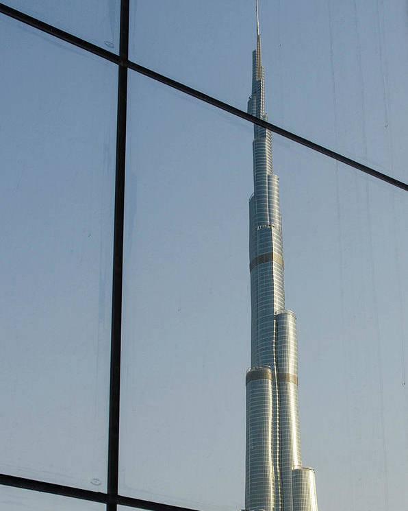 Burj Khalifa Poster featuring the photograph Burj Khalifa The Tallest Building by Michael Defreitas