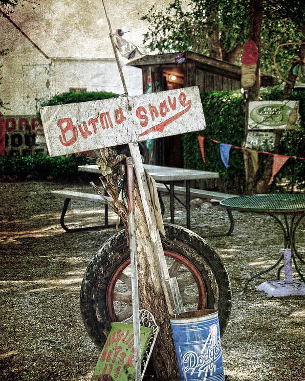Shed Poster featuring the photograph Burma Shave Sign by RicardMN Photography