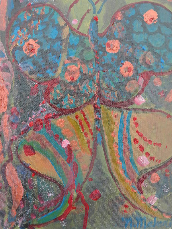Imaginary Butterfly Poster featuring the painting Butterfly 11 by Norma Malerich