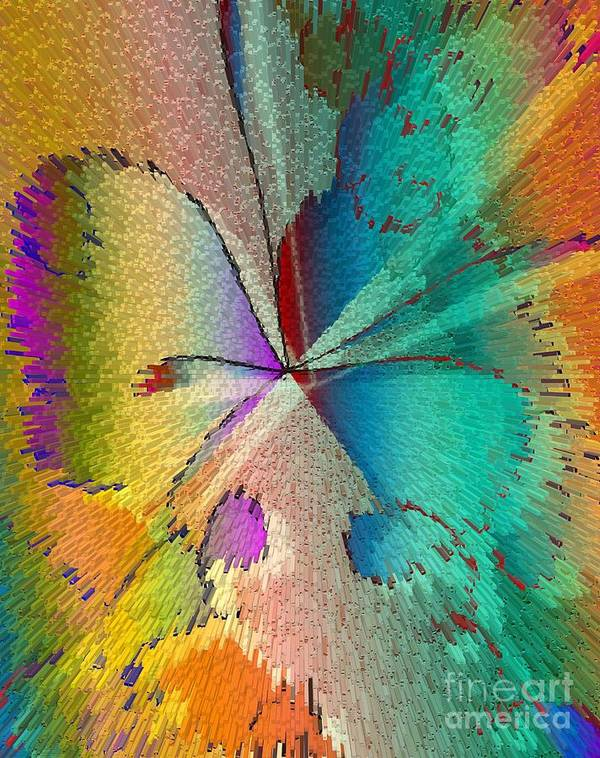 Abstract Poster featuring the digital art Butterfly by Iris Gelbart