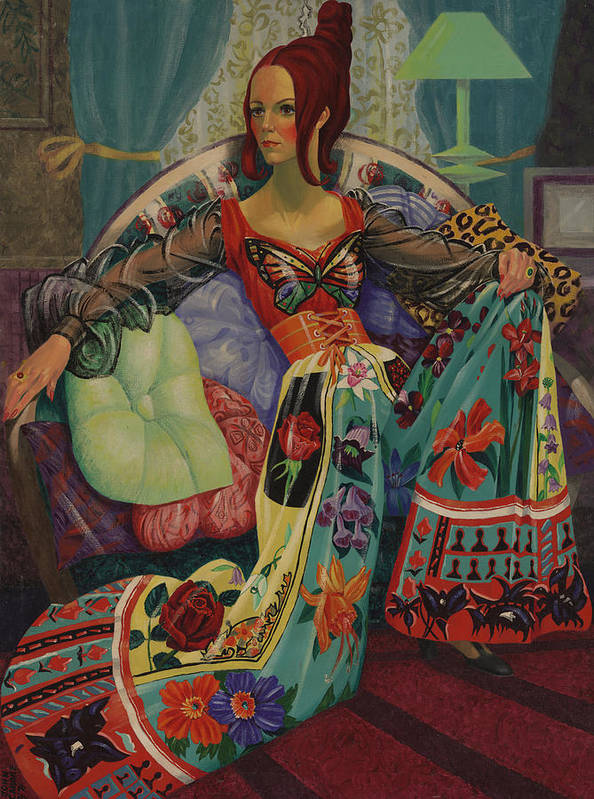 Fashion Poster featuring the tapestry - textile Butterfly Jumpsuit by Florine Duffield