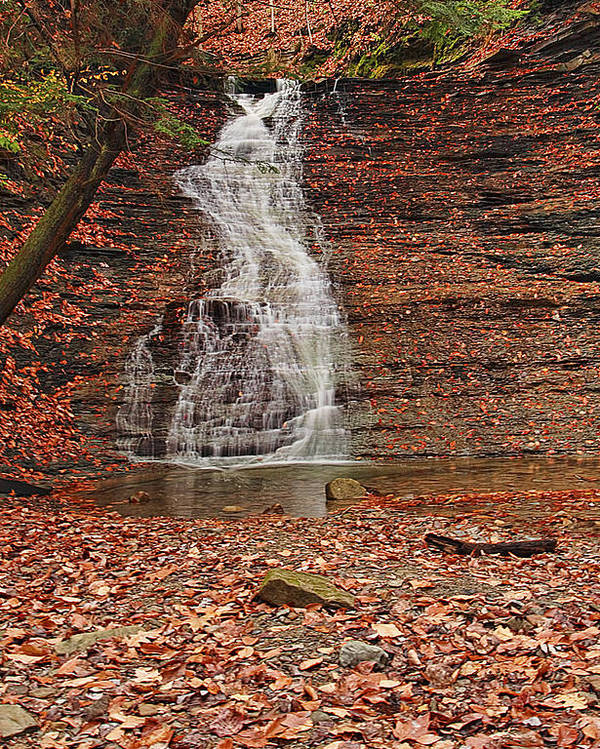 Landscape Poster featuring the photograph Buttermilk Falls by Marcia Colelli
