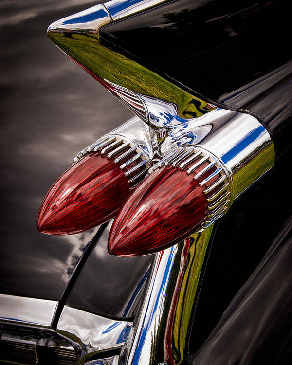 Cadillic Chrome Poster featuring the photograph Cadillac Fin by Phil 'motography' Clark