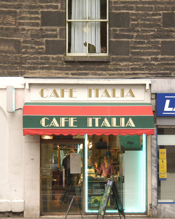Cafe Poster featuring the photograph Cafe Italia by Mike McGlothlen