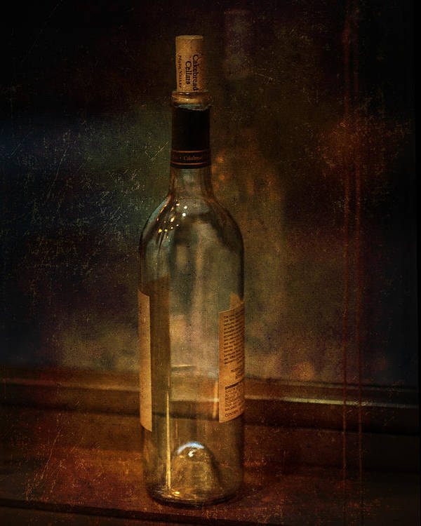 Wine Poster featuring the photograph Cakebread In Window by Brenda Bryant