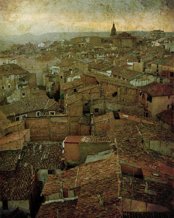 Calahorra Poster featuring the photograph Calahorra Roofs From The Bell Tower Of Saint Andrew Church by RicardMN Photography