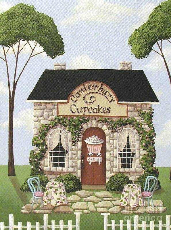 Art Poster featuring the painting Canterbury Cupcakes by Catherine Holman