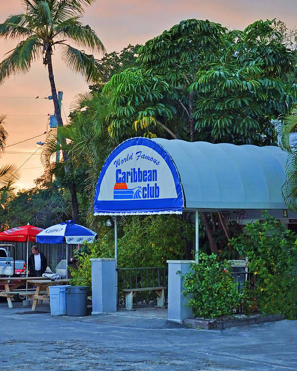 Caribbean Club Key Largo Poster featuring the photograph Caribbean Club Key Largo by Chris Thaxter