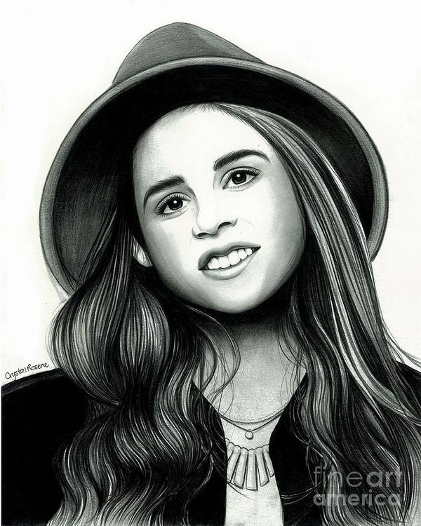 The X Factor Poster featuring the drawing Carly Rose Sonenclar by Crystal Rosene