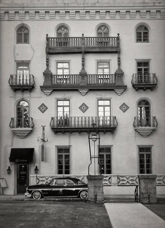 Black And White Poster featuring the photograph Casa Monica by Mario Celzner