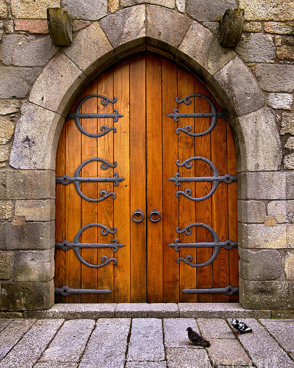 Ancient Poster featuring the photograph Castle Door by Carlos Caetano