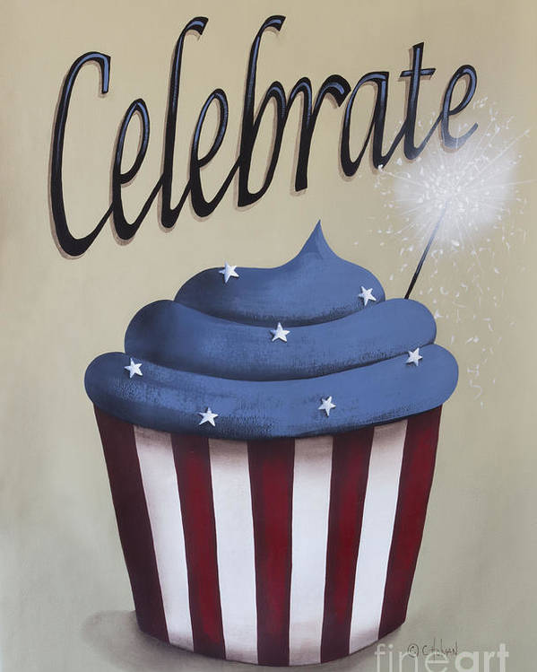 Art Poster featuring the painting Celebrate The 4th Of July by Catherine Holman