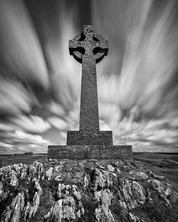 Celtic Cross Poster featuring the photograph Celtic Cross by Dave Bowman