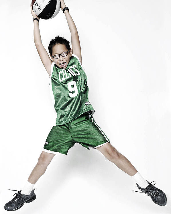 Nba Poster featuring the photograph Celtics Fan by Tolga Kavut