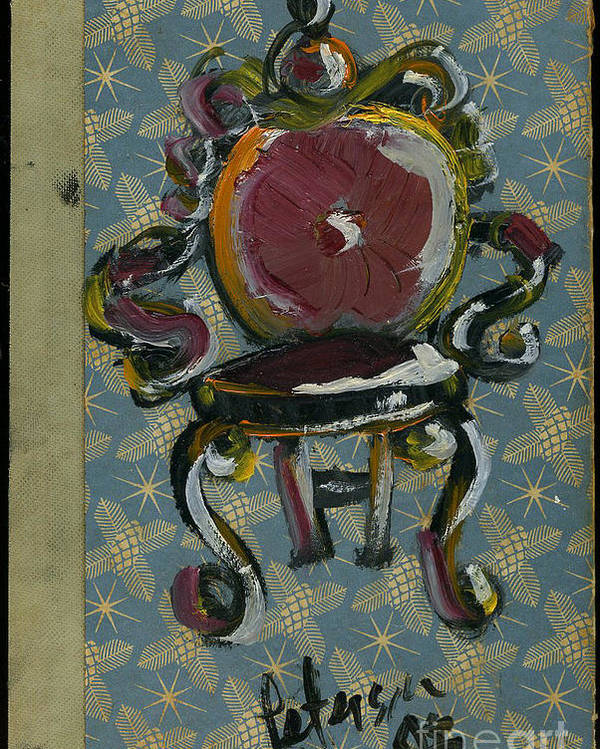 Chair Chaise Seat Cushion Cathy Peterson Poster featuring the painting Chair Fetish '98 by Cathy Peterson