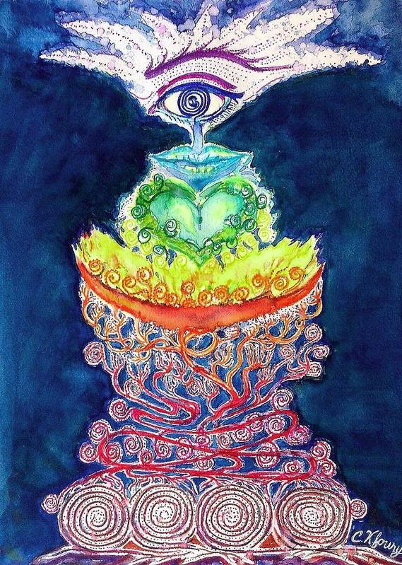 Chakra Poster featuring the painting Chakra Doodle 2 by Christine Kfoury