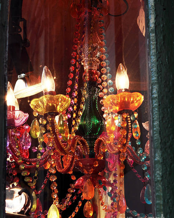 New Orleans Poster featuring the photograph Chandelier by John Rizzuto