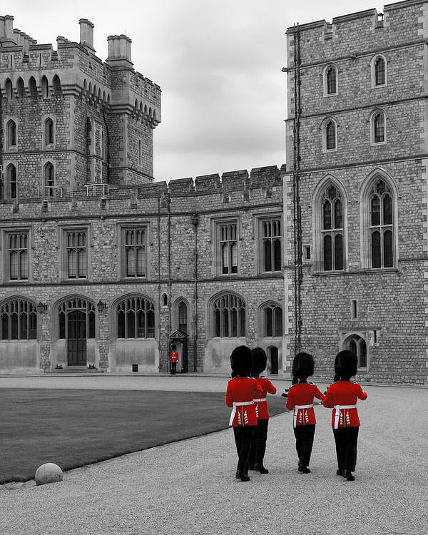 Lisa Knechtel Poster featuring the photograph Changing Of The Guard At Windsor Castle by Lisa Knechtel