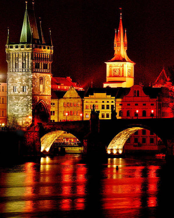Charles Bridge Poster featuring the photograph Charles Bridge by John Galbo