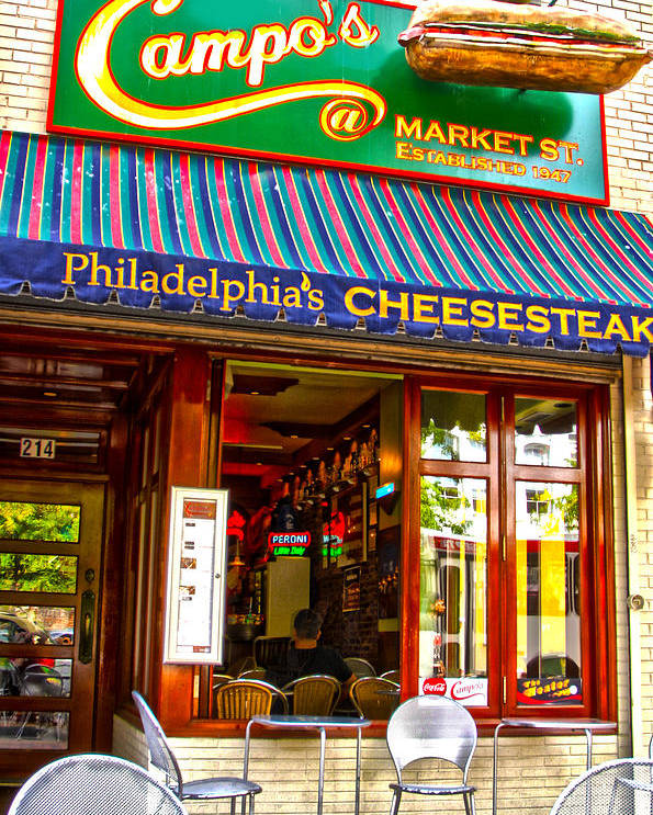 Cities Poster featuring the photograph Cheesesteak by Frank Savarese