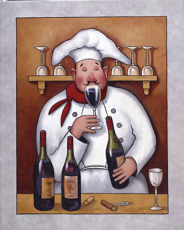 Chef Poster featuring the painting Chef 1 by John Zaccheo