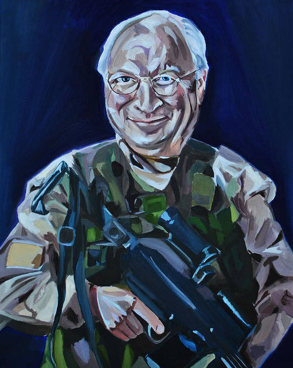 Dick Cheney Poster featuring the painting Cheneys Got A Gun by Stuart Black