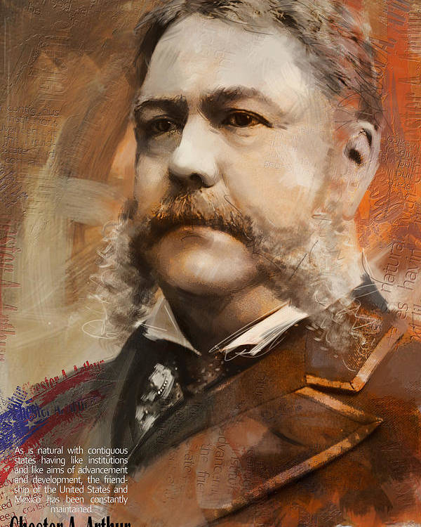 Chester A. Arthur Poster featuring the painting Chester A. Arthur by Corporate Art Task Force