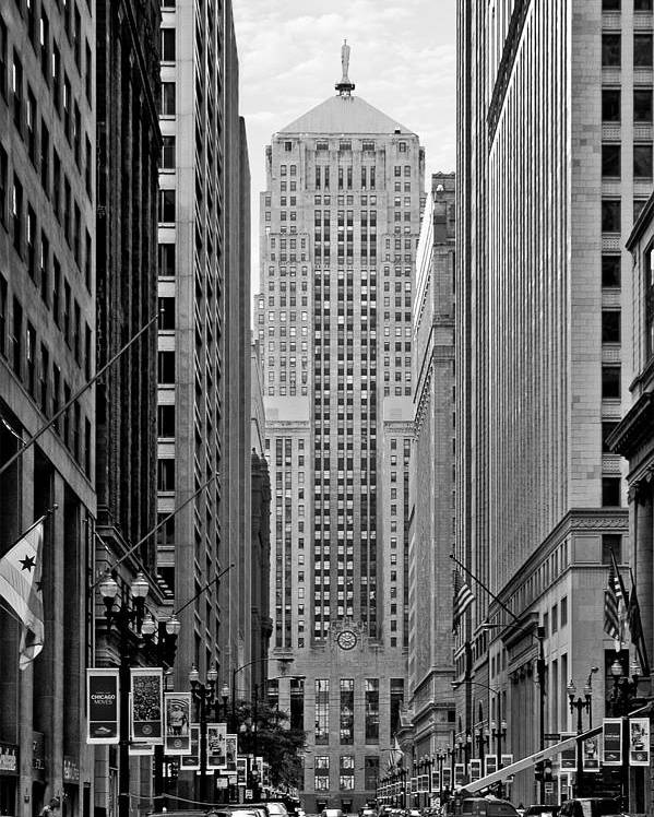 Cbot Poster featuring the photograph Chicago Board Of Trade by Christine Till