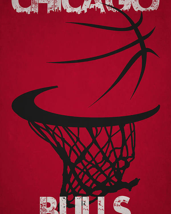 Bulls Poster featuring the photograph Chicago Bulls Hoop by Joe Hamilton