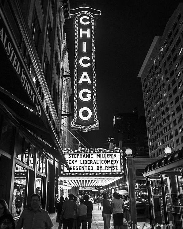 Chicago Poster featuring the photograph Chicago Nights by Terry Rowe