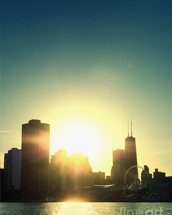 America Poster featuring the photograph Chicago Skyline IIi by Margie Hurwich