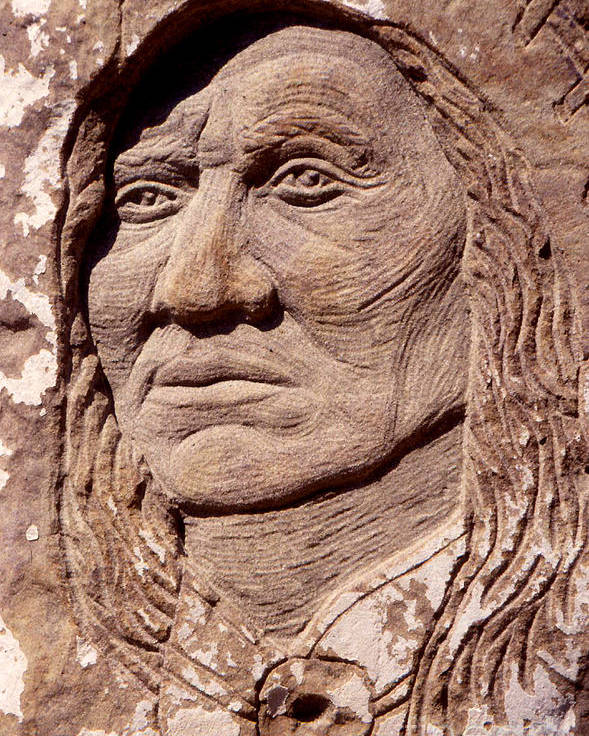American Indians Poster featuring the sculpture Chief-washakie by Gordon Punt