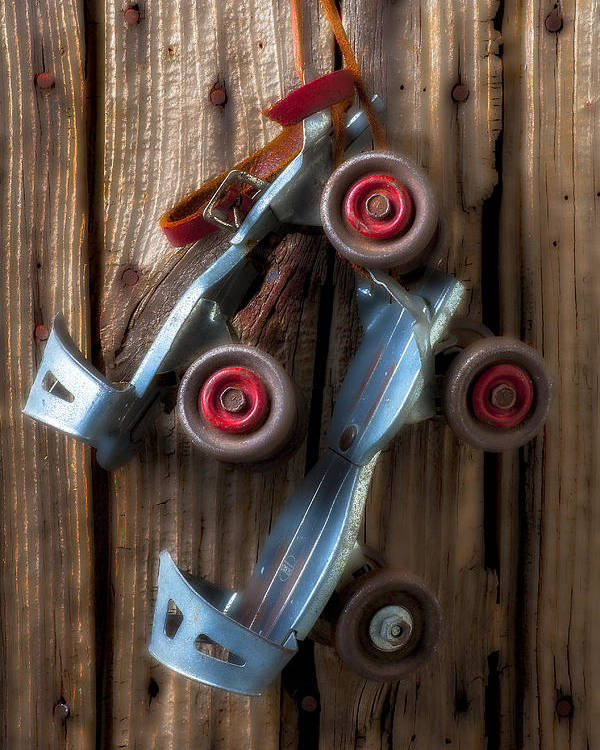 Old Roller Skates Poster featuring the photograph Childhood Skates by Garry Gay