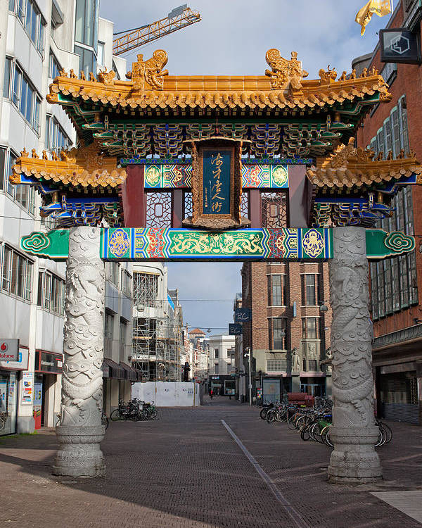 Chinatown Poster featuring the photograph Chinese Gate To The Chinatown by Artur Bogacki