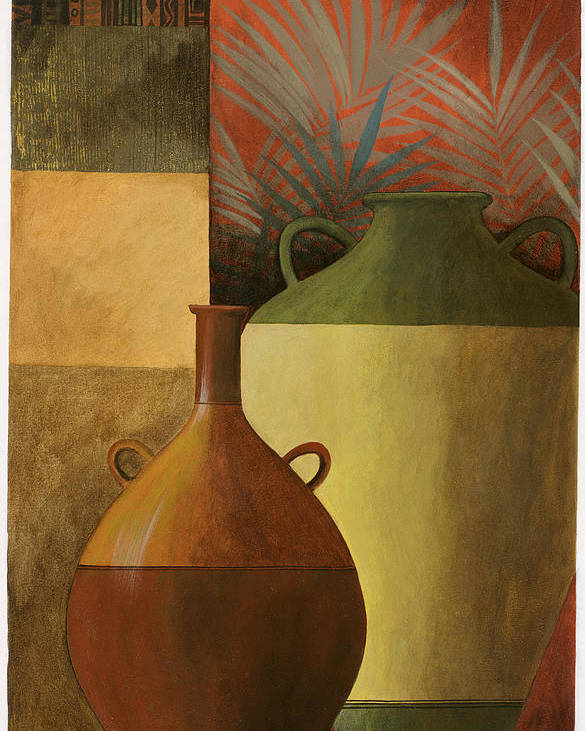 Pablo Poster featuring the painting Chinese Urn 1 by Pablo Esteban