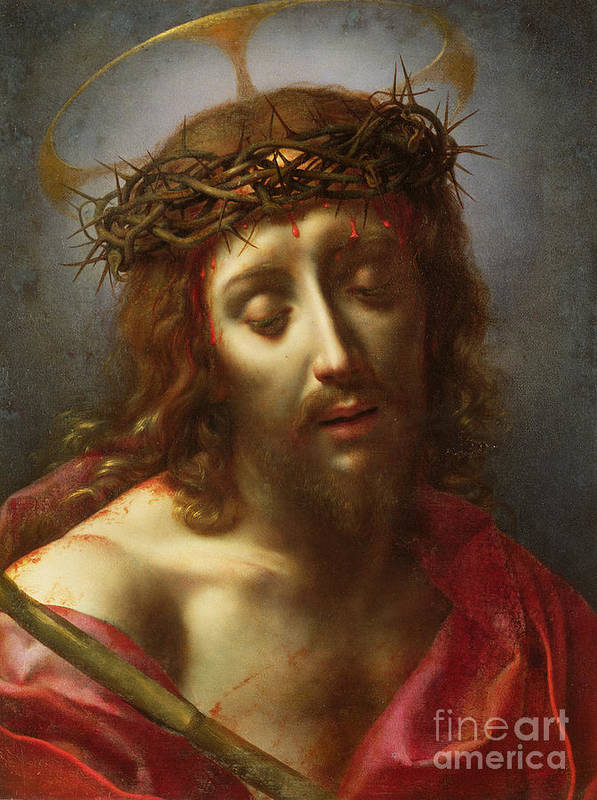Man Of Sorrows; Ecce Homo; Crown Of Thorns; Jesus Poster featuring the painting Christ As The Man Of Sorrows by Carlo Dolci