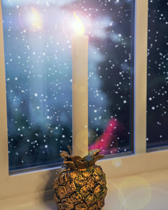 2d Poster featuring the photograph Christmas Candle by Brian Wallace