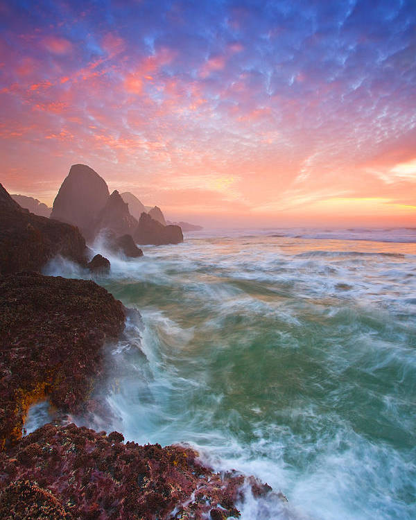 Oregon Poster featuring the photograph Christmas Eve Sunset by Darren White