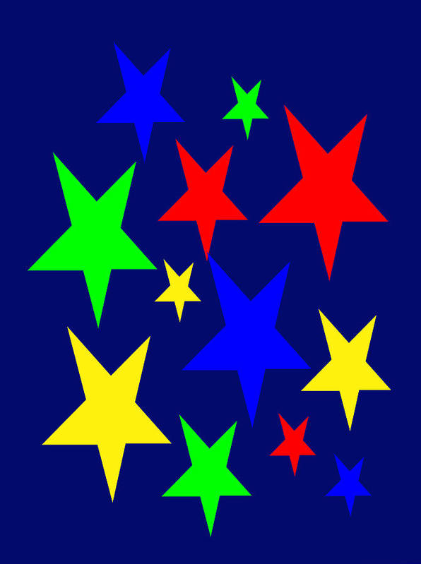 Christmas Stars Wish You A Merry Christmas Poster featuring the digital art Christmas Stars wish you a Merry Christmas by Asbjorn Lonvig