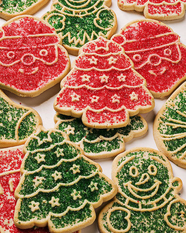 Cookies Poster featuring the photograph Christmas Sugar Cookies by Garry Gay