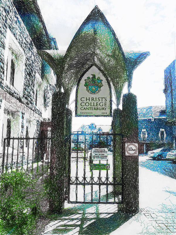 Christ's Poster featuring the photograph Christ's College Canterbury by Steve Taylor