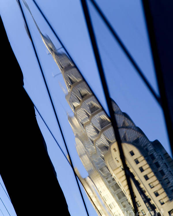 Chrysler Poster featuring the photograph Chrysler Building by Tony Cordoza