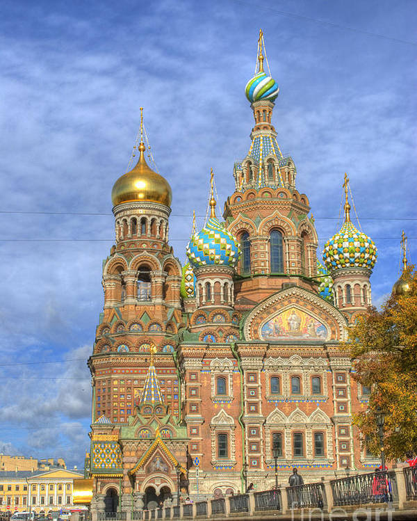 St. Petersburg Poster featuring the photograph Church Of The Saviour On Spilled Blood. St. Petersburg. Russia by Juli Scalzi